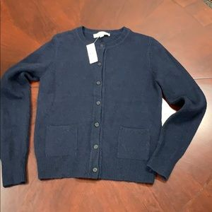 The Loft NWT navy sweater button-down cardigan
